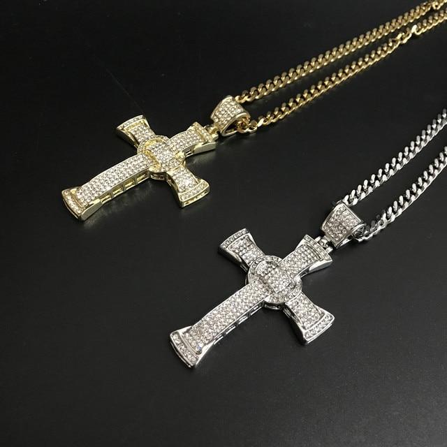 Reloj de lujo para hombre, pulsera y collar, Color dorado y plateado, Hip Hop, conjunto combinado, cubano, Hip Hop 6