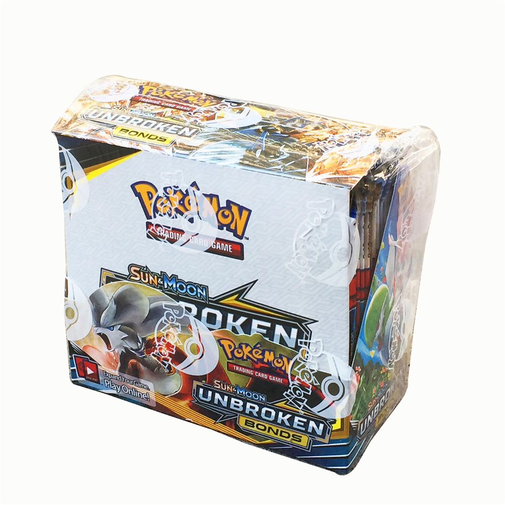 324 Cards Pokemon TCG: Sun & Moon UNBROKEN BONDS 36-Pack Booster Box Trading Card Game Kids Collection Toys image