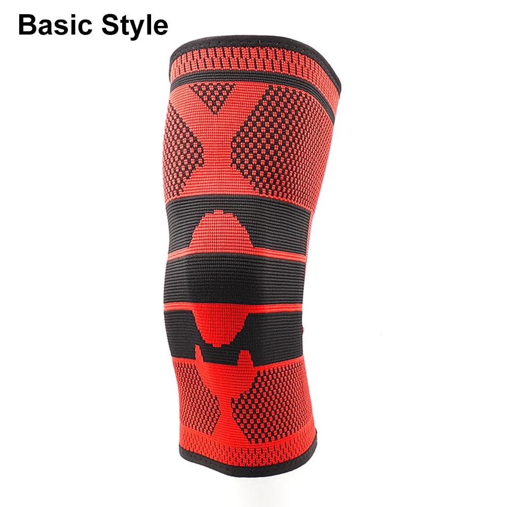 Противоскользящие наколенники для поддержки суставов, Защитные Спортивные наколенники, дышащие, 1/2 шт, мощность подъема, мощная сила отскока, наколенник - Цвет: Basic 4