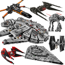 New Star Tie Fighter MicroFighters Wars The Rise of Skywalker Building Blocks StarWars 75257 Toys For Children цена 2017