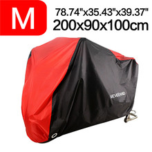 M 200cm 78 Inch Black Red 190T Motorcycle Covers Outdoor Indoor Motorbike Scooter Motors Rain UV Dust Protective Cover D35 200x90x100cm black silver 190t waterproof motorcycle covers outdoor indoor motorbike scooter motor rain uv dust protective cover