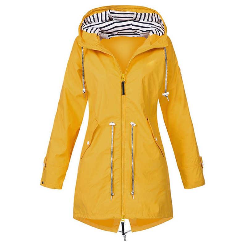 Sfit 女性のレインコート遷移ジャケット SunsetAutumn 冬レインコートハイキングジャケット屋外キャンプハイキングジャケットのコートの女性
