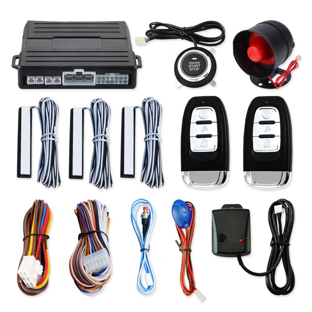 PKE voiture sans clé entrée à distance moteur démarrage système d'alarme universel véhicule sans clé alarme avertisseur bouton poussoir