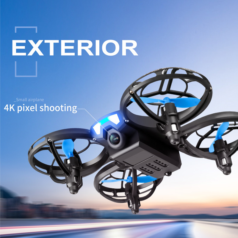 V8 New Mini Drone 4K 1080P HD Camera WiFi Fpv Air Pressure Height Maintain  Foldable Quadcopter RC Dron Toy Gift 3