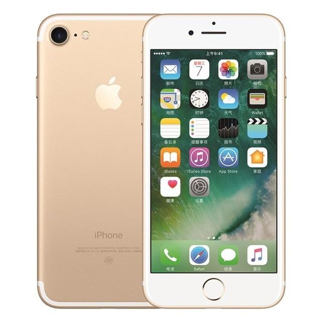 Разблокированный смартфон Apple iPhone 7 4G LTE 4,7 дюймов Apple A10 IOS 12,0 МП камера отпечатков пальцев 32 ГБ/128 ГБ/256 ГБ rom смартфоны - Цвет: Gold