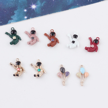 2pcs popular fashion handmade material mini cartoon astronaut balloon pendant jewelry accessories wholesale