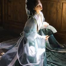 Traje tradicional chino de Hanfu para mujer, ropa de princesa de la dinastía Han, novedad, vestido de la dinastía Tang