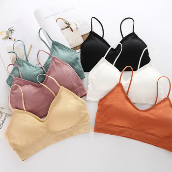 SP CITY Simple Vogue Sporty Invisible Push Up Bra Solid Top Sexy Seamless Bralette Chest