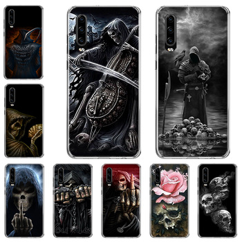 Grim Reaper Skull Skeleton Phone Case For Huawei P10 P20 P30 P40 Mate 30 20 10 Lite Pro P Smart Z Plus 2019 2018 Cover Coque cool japan jdm sports car comic phone case for huawei p40 p30 p20 p10 mate 10 20 30 lite pro p smart z plus 2019 cover shell co