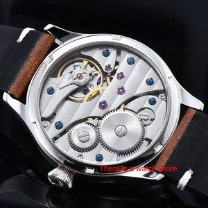 Image 5 - Corgeut 44mm Horloge Mannen 17 Juwelen Hand Kronkelende 6497 Beweging Lichtgevende Waterdichte Mechanische Horloges Lederen Band