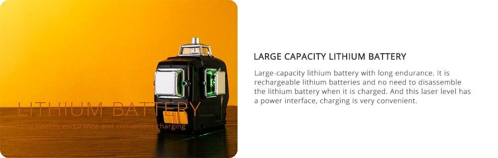 LITHIUM Battery DEKO Line Laser