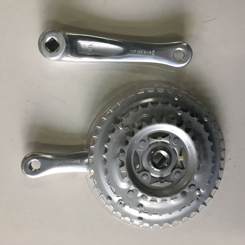 Bicycle Aluminium Leg Sprocket Crank 24-34-42t 152 Leg Aluminium Alloy Small Three PCs Roulette