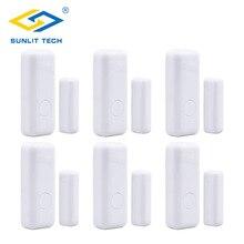 6pcs Wireless Mini Door Window Open Sensor Magnetic Switch C