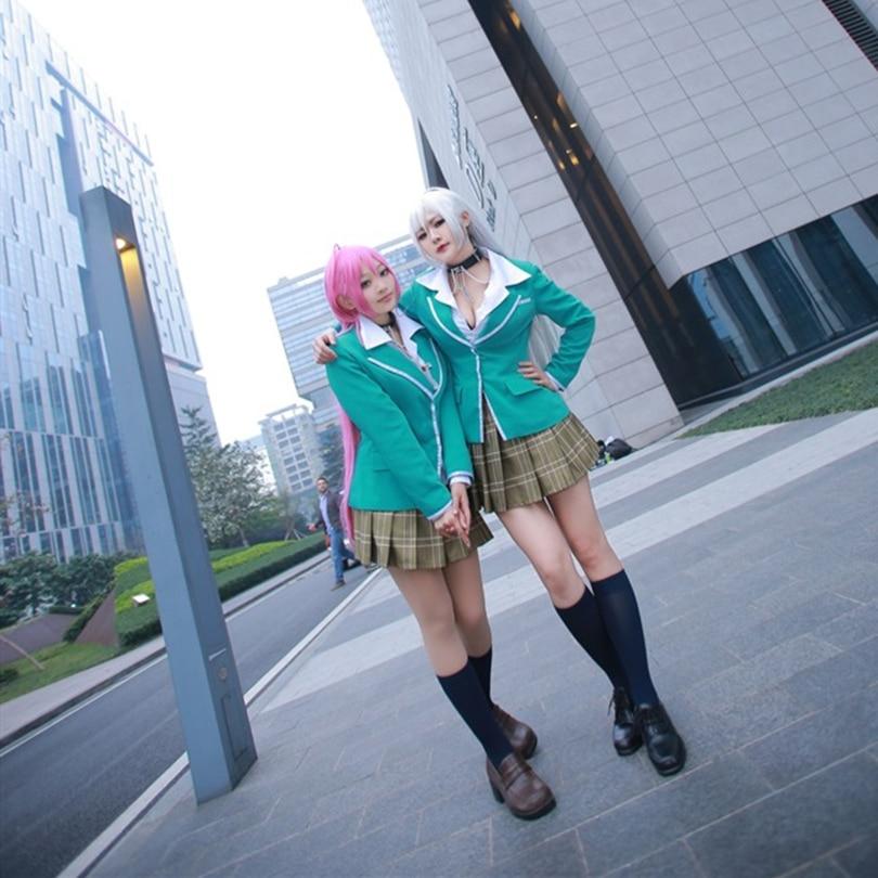 Rosario + Vampire Moka Akashiya Uniform Cosplay Costume ,Perfect Custom For You !