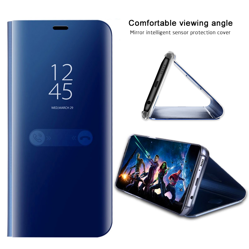 Smart Mirror View <font><b>Flip</b></font> Phone <font><b>Case</b></font> For Huawei <font><b>Honor</b></font> 10 <font><b>9</b></font> <font><b>Lite</b></font> V20 V10 8X Mate 30 20 10 P20 P10 P30 <font><b>Lite</b></font> Nova 5i Pro Cover <font><b>Case</b></font> image