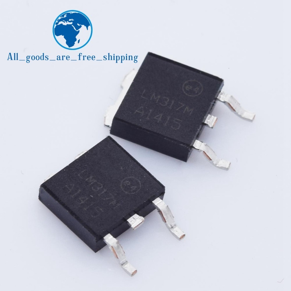 10pcs LM317 LM317M TO252 Adjustable Voltage Regulator