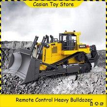 Huina 569 caminhão de controle remoto série caminhão de engenharia 1:16 8ch pesado bulldozer tipo esteira rolante