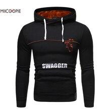 Miicoopie 2019 Winter Mens Hoodie Swagger Print Pullover Sweatshirt Warm Clothing Men