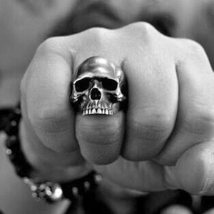 New Exaggerated Skull Ring Men's Gothic Personality Punk Ring Accessories Party Jewelry Size 7-13