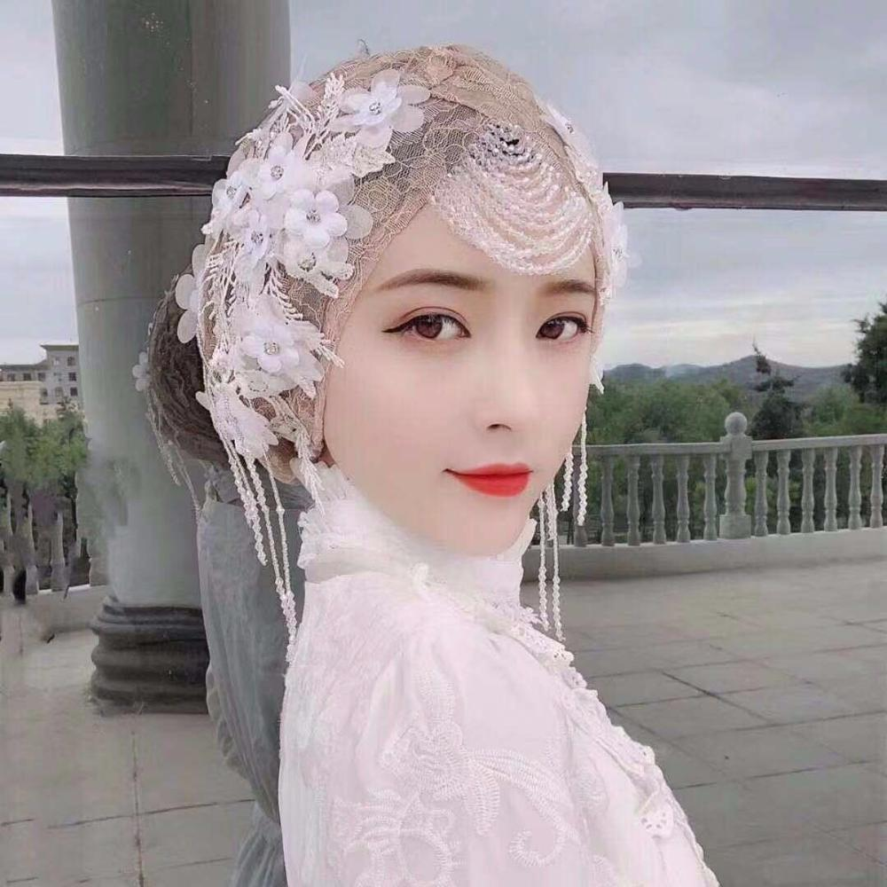 2019 Wedding Party Show Head Cover Wrap Muslim Scarf Hijabs For Women