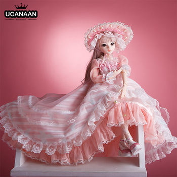1/3 BJD Dolls 60CM 18 Ball Joints Doll With Full Outfits Clothes Shoes Wig Makeup Toys For Girls Collection Best Birthday Gifts 1 3 bjd girl doll high quality handmade dress with outfit shoes wig hat makeup 60cm bjd sd dolls silicone reborn bjd dolls toys