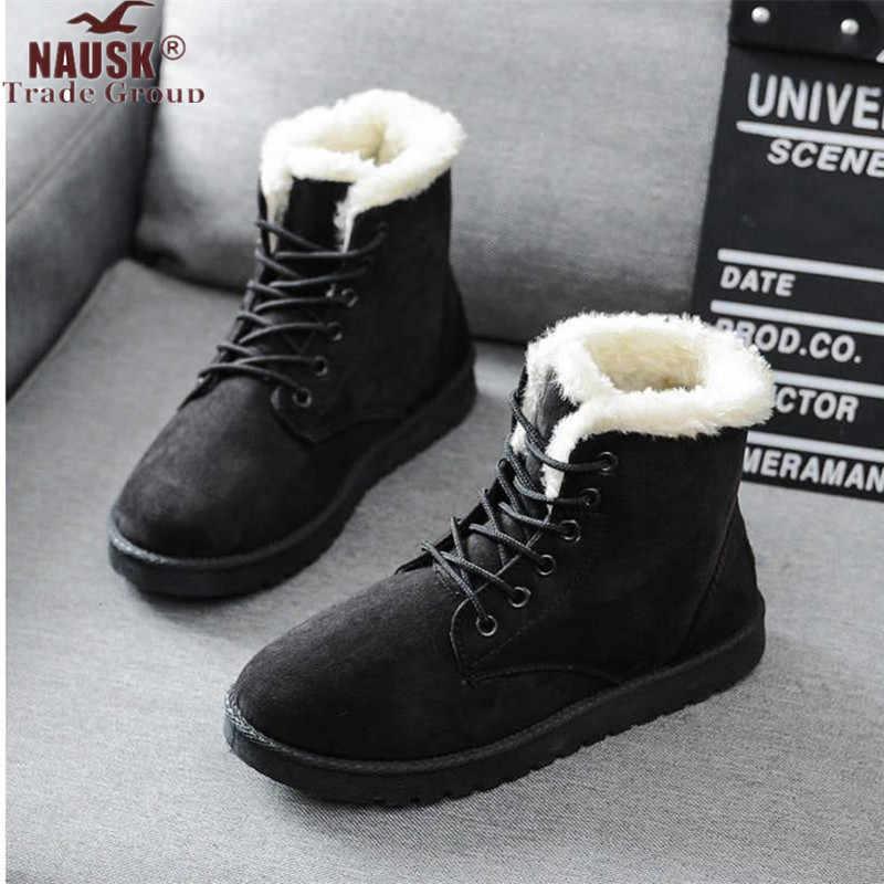 Kadın botları 2019 kış kar botları bayan botları Duantong sıcak dantel kadınlar için düz ayakkabı ile gelgit ayakkabı F031 sıcak satış 35-40