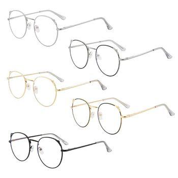 Blokujące niebieskie światło śliczne okrągłe kocie uszy okulary ramka komputerowa ochrona oczu okulary optyczne Unisex