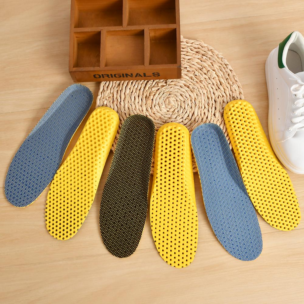 HOT SALE!Light Weight Breathable Orthopedic Insoles Deodorant Shoes Running Cushion Insoles For Shoes Pad Solid Para Los Pies