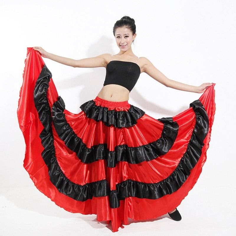 Flamenco Spansk skjørt Gypsy Belly Dance Skirt Ballroom Dancing - Scene og danseklær - Bilde 2