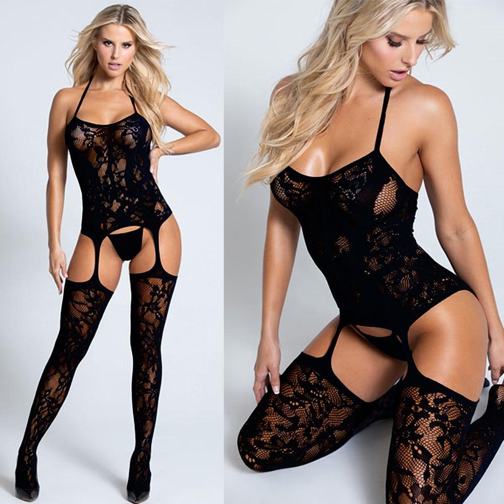 Seksowna bielizna Porno seksowne kostiumy erotyczne Langerie Lenceria Mujer przezroczyste Plus Size kobiety seksowna gorąca bielizna erotyczna