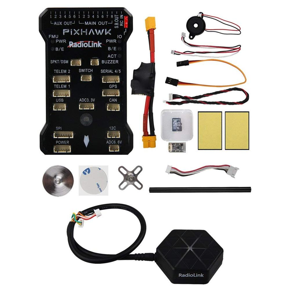 Radiolink pixhawk 비행 컨트롤러 rc drone fc 32 비트, 긴 휠베이스 쿼드 콥터/6 8 축 멀티 로터 용 전원 모듈 포함-에서부품 & 액세서리부터 완구 & 취미 의  그룹 1