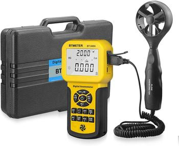 BTMETER 846A Pro HVAC Anemometer Measures Wind Speed Wind Flow Wind Temp Tester CFM Air Flow Velocity Meter with Backlight gm8902 wind speed meter air flow tester air temperature meter portable handheld anemometer with usb interface hot selling