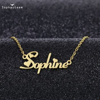 Personalized Custom Name Letter Necklaces for Women Men Rose Gold Silver Color Stainless Steel Chain Nameplate Pendant Necklace personalized custom infinite name bracelet silver gold chain stainless steel nameplate charms couple jewelry for women men