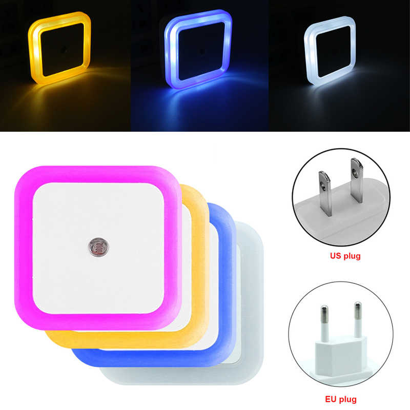 Auto Night Lamp Led Inductie Sensor Controle Lamp Smart Home Nachtlampje Led Vierkante Licht Voor Baby Slaapkamer Hal Dropshipping