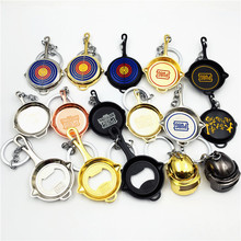 цена на 2020 New Game PUBG Playerunknown's Battlegrounds Cosplay Costumes Keychain Pans Weapon Model Key Chain Pendant