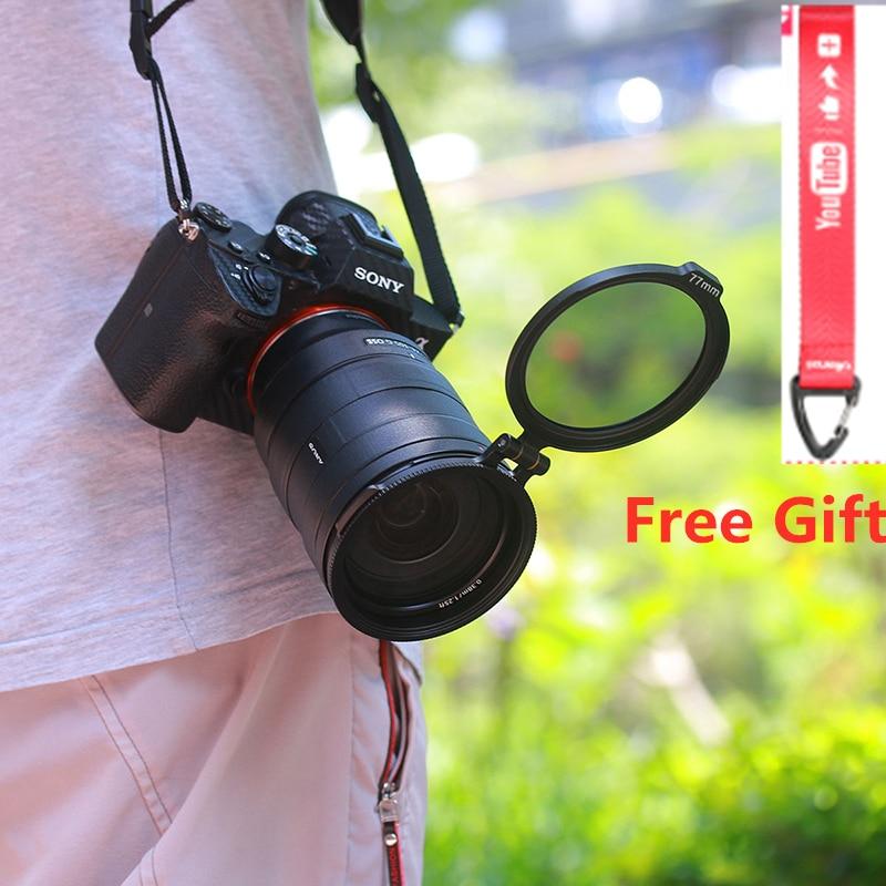 Rfs nd anel de liberação rápida câmera dslr acessório filtro interruptor rápido suporte para 58mm 67mm 72mm 77mm 82mm lente dslr adaptador flip