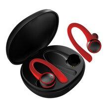GDLYL Sport Drahtlose Kopfhörer Bluetooth Kopfhörer Ohr Haken mit Mikrofon Wasserdichte Lauf Noise Cancelling Stereo Ohrhörer