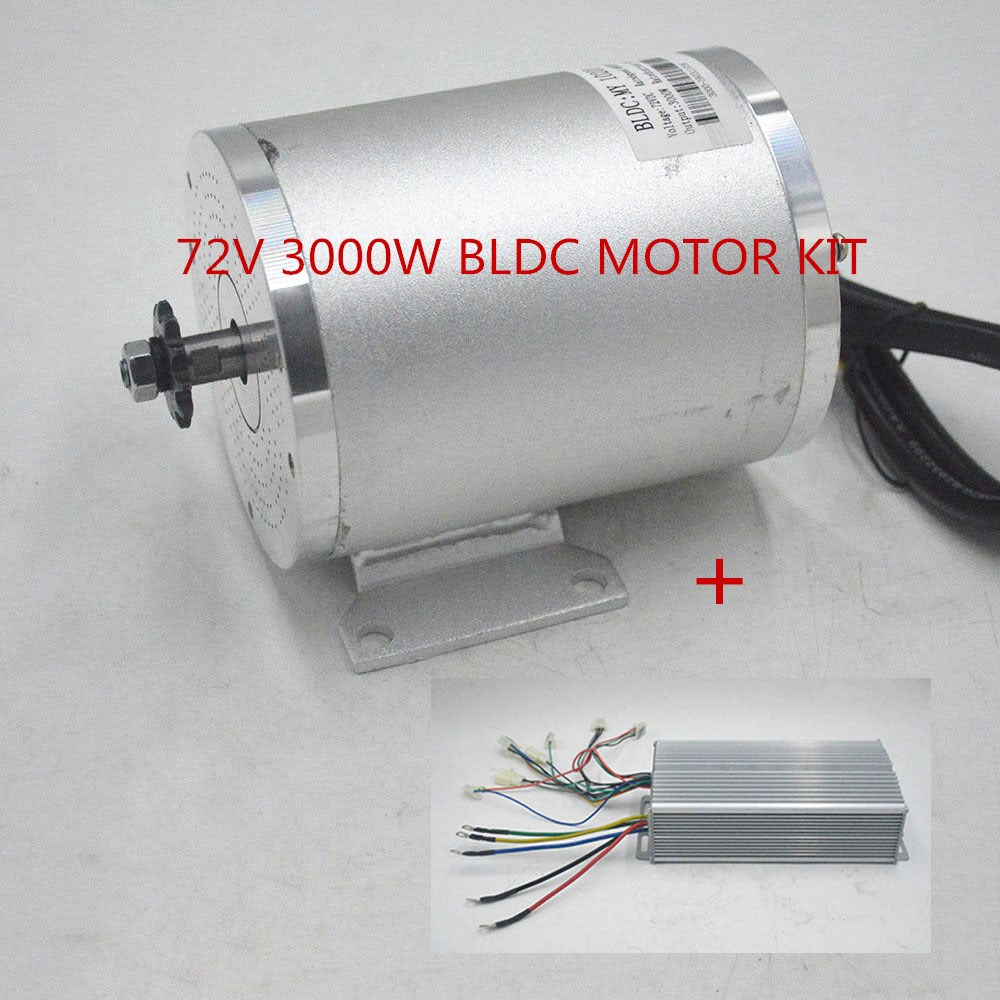 72V <font><b>3000W</b></font> BLDC <font><b>Motor</b></font> Kit With <font><b>brushless</b></font> Controller For Electric Scooter E bike E-Car Engine Motorcycle Part image
