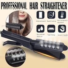 цена на Hair Straightener Steam Ceramic Vapor Four-gear Temperature Adjust Hair Flat Iron Professional Electronic Hair Straightening