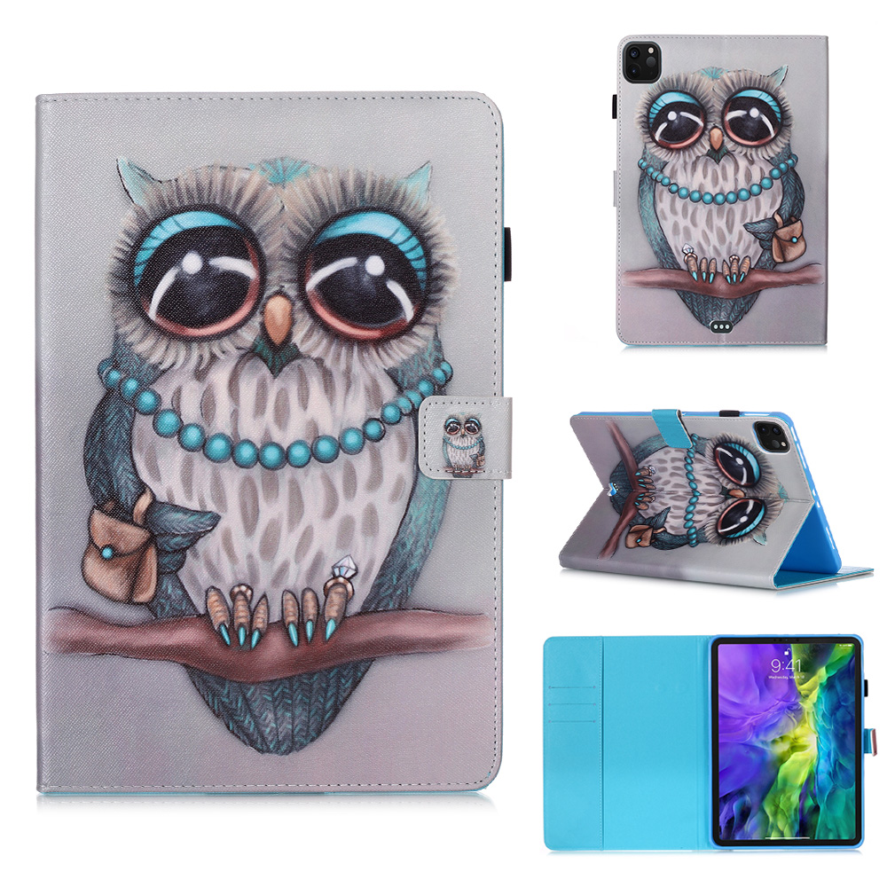 Funda Cover Owl 11 Coque For 2020 Tablet Flowers Tablet Case iPad Wallet For Stand Pro