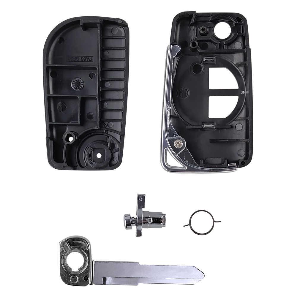 OkeyTech 2 düğmeler modifiye katlanır uzaktan araba anahtarı kabuk Suzuki Swift için SX4 Alto Vitara Ignis Jimny sıçrama çevirme anahtarı kılıf kapak
