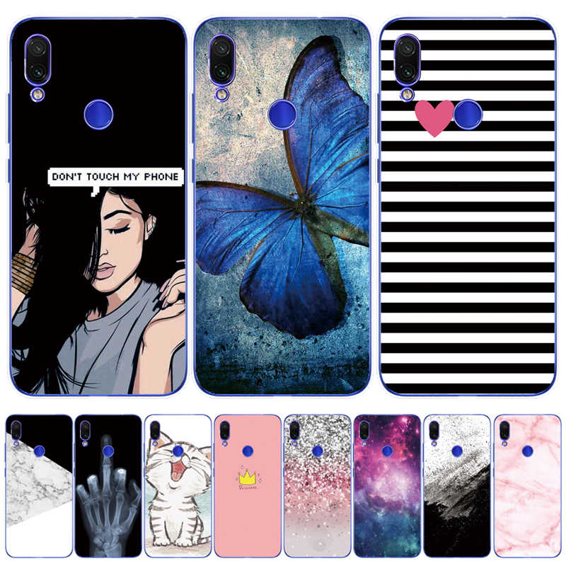 For Xiaomi Redmi Note 7 Case Phone Back Cover For Note 7 Pro Capa Soft TPU Silicone Cases Bags For xiaomi redmi note7 pro Cover