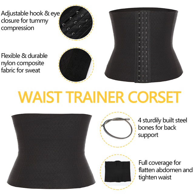VASLANDA Men Waist Girdle Corsets Lumbar Trainer Body Shaper Fitness Sauna Sweat Belt Shapewear Fat Burning Slimming Underwear 3