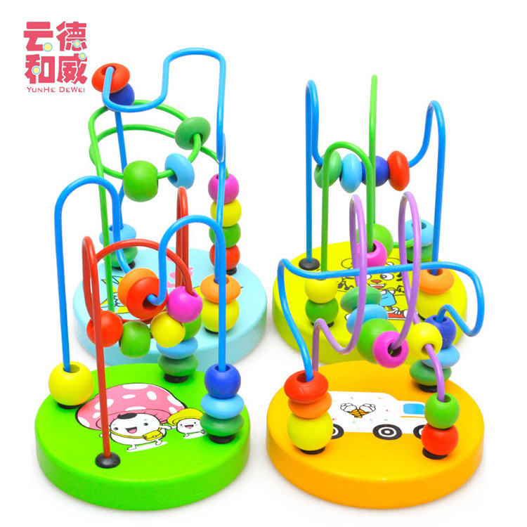 Children Wood Educational Early Childhood Toy Mini Small Bead-stringing Toy Product Wooden Toys Hot Sales