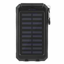 Dual Usb Solar Power Charger With Hook Compass Mobile Phone 8000 Mah Large Capacity