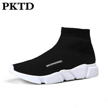 цена Lovers walking shoes lightweight comfortable breathable sneakers outdoor non-slip wear-resistant retro shoes socks shoes онлайн в 2017 году