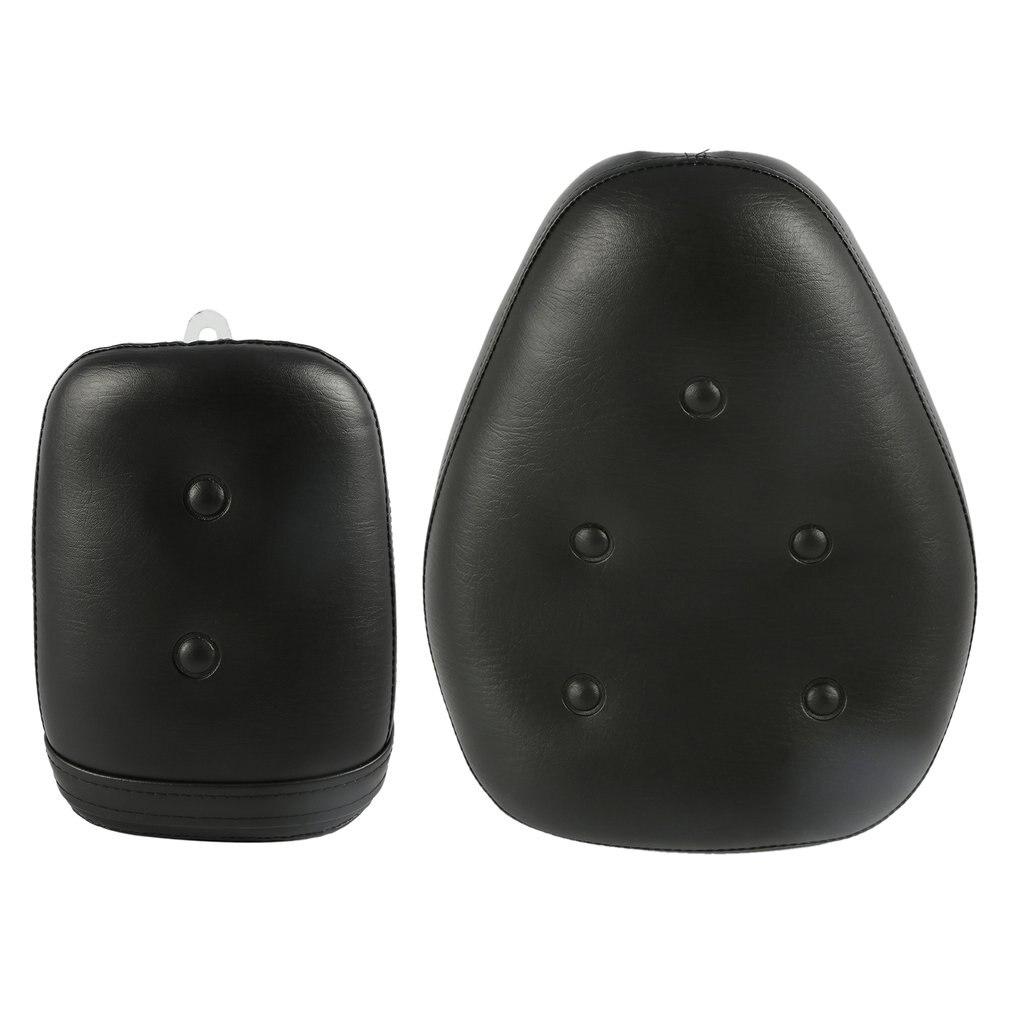2Pcs Pu Leather Black Front Rear Motorcycle Seat For Yamaha Virago Xv250 1988-2013 2009 2010 Abs Sponge Waterproof