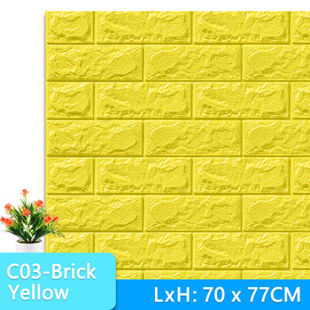 3D Wall Stickers Marble Brick Peel and Self-Adhesive Wall paper Waterproof DIY Kitchen Bathroom Home Wall Decal Sticker Vinyl 9