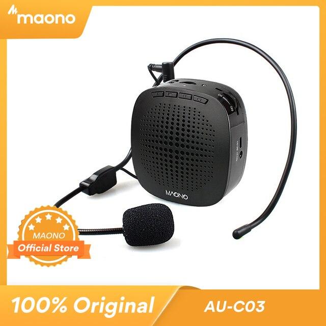 MAONO Stimme Verstärker Mini Wiederaufladbare PA system (1020mAh) mit Wired Mikrofon für Lehrer Präsentationen Trainer Tour Guides