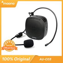MAONO Voice Amplifier Mini Rechargeable PA system (1020mAh) with Wired Microphone for Teachers Presentations Coaches Tour Guides